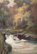LANARKSHIRE. 'Wallace's Leap' by Mary Young-Hunter. Scotland 1907 old print