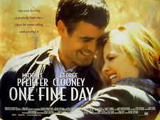 ONE FINE DAY 1996 George Clooney, Michelle Pfeiffer UK QUAD POSTER
