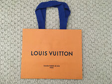 "New Louis Vuitton Gift Bag Empty Paper Orange Shopping Bag 8.5"" x 4.5''x 7"""