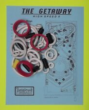 1992 Williams The Getaway High Speed II pinball rubber ring kit HSII