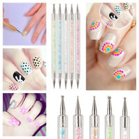 5 PCS 2 Way Crystal Dotting Painting Pen Manicure Tools Nail Art Paint Dot Set