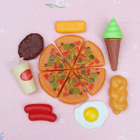 13X for Childrens Pizza Slices Cola Ice Cream Pretend Kitchen Play Food Toy!eJCA