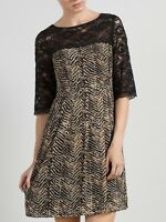 Somerset By Alice Temperley Amimal Print Zigzag Lace DressSIZE 10 12, 16 18