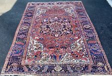 Antique Hand Woven P.N Serapi Heriz Rug 8x11Ft From Circa1900
