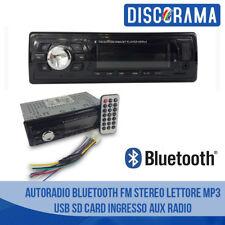 AUTORADIO BLUETOOTH FM STEREO AUTO LETTORE MP3 USB SD CARD INGRESSO AUX RADIO