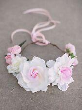 Joyfolie Cream Posy Crown Headband One Size Photo Prop Wedding Flower Girl