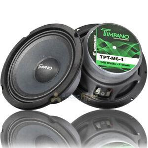 "Timpano 6.5"" Mid Range Loudspeakers 140 Watts Max Power 4 Ohm TPT-M6-4 Pair"