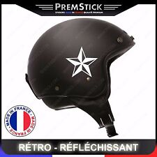 Kit 4 Stickers Retro Reflechissant Stars ref1; Casque Moto autocollant