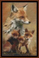 SPIRIT GUIDES - FOX cross stitch PDF (punto cruz croce kreuzstich point de croix