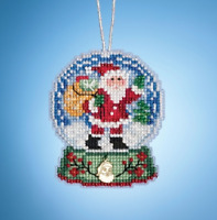 MILL HILL SNOW GLOBE ORNAMENTS Beaded Cross Stitch Kit SANTA GLOBE 1931