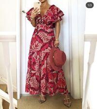 H&M Johanna Ortiz en encaje inglés Vestido Rosa UK 12 40 BNWT raro nuevo vendido
