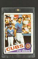 1985 Topps #460 Ryne Sandberg HOF Chicago Cubs 2nd Year Card *Magnetic Holder*