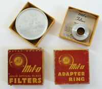 Vintage Mil-o Adapter Ring Cine Universal & Solid Optical Glass Filter In Box