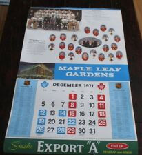 "Export ""A""  Maple Leaf Gardens Calendar Page Boston / Chicago 1970 - 1971"