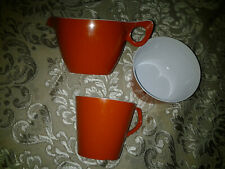 Retro Vintage Orange Melamine Melaware Picnic Lot