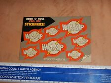 Vintage, Original 1985 W.A.S.P. Sticker-Gram By Freezz Frame