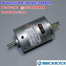 Mabuchi RS-385SH DC 5V-18V 12V 9700RPM Dual Shaft Round 27mm Motor DIY Parts