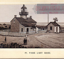 Point Pinos Lighthouse 1890's San Francisco Cigar Store Ad Photo-Lith Trade Card