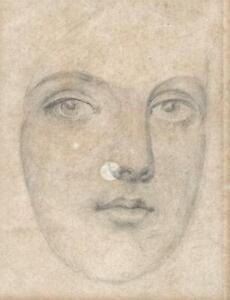 ELMA MARY GOVE (1832-1921) Miniature Drawing - FEMALE PORTRAIT - AMERICAN ARTIST