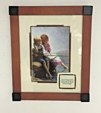 """""""See One Another Through"""" Framed 2 Children Print & Verse Wooden Frame 9 X11"""