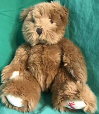 "Harrods Knightsbridge Teddy Bear Plush Stuffed Animal Toy 8"" Tall Brown London"