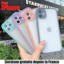Coque Antichoc Hybride Mat iPhone 11 PRO Max 6/7/8/Plus/XR/XS/11 SE 12 2020