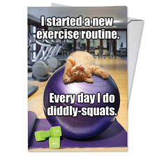 C3955BDG Funny Single Birthday Greeting Card: Diddly Squats with Envelope
