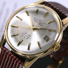 1960s Vintage Citizen Jet Auto Dater 39 J 18K Gold Automatic Date Men's Watch