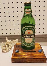Vintage Heineken lamp Myrtle Beach Made of Wood and Glass
