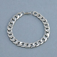 Men's Retro Stainless Steel Silver Chain Link Bracelet Wristband Bangle Jewelry