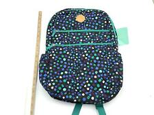 "Danielle Morgan 17.5"" Quilted Backpack With Padded Laptop Sleeve Polka Dot New"