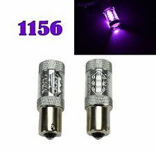 Rear Signal Light 1156 BA15S 7506 3497 1141 P21W 80W Purple LED Bulb M1 Euro R