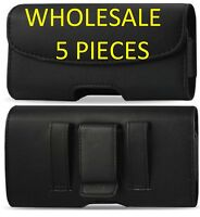 LOT OF 5 Leather case Belt Clip Holster For iPhone 4,5,6,6S,7,8,X & 6,7&8 Plus