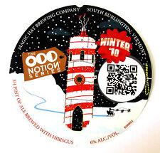 Magic Hat Brewing ODD NOTION - WINTER '10  beer label VT 12oz ABV 6% #82000062