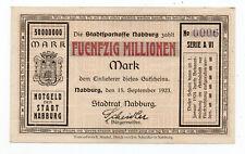 bay1255  Nabburg,  50 Mio Mark