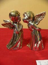 "SAM PHILIPE ""kissing angels"" SILVER SCULPTURE Christmas"