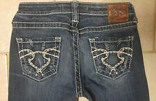 Womens BIG STAR Jeans Sweet Boot Cut Ultra Low Rise Size 27R (x 31 inseam)