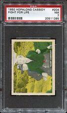 1950 Hopalong Cassidy #204 Fight For Life PSA 7 NM Cert #20511395