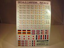 DECALS 1/24 PLAQUES 24H DU MANS 1995 à 1999 - COLORADO  2414