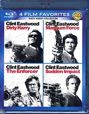 DIRTY HARRY, MAGNUM FORCE, THE ENFORCER, SUDDEN IMPACT CLINT EASTWOOD BLU RAYS