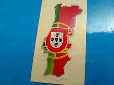 BANDIERA Portogallo & Mappa Casco Moto Auto Van Paraurti Adesivo Decalcomania 1 Largo 80mm