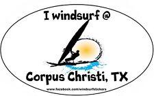 """I Windsurf @ Corpus Christi, Tx Bumper/Window Sticker Oval 3"""" X 5"""""""