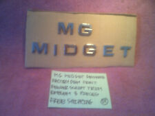 MG MIDGET GENUINE FACTORY MG MIDGET FRONT FENDER EMBLEMS LETTERS FREE SHIPPING