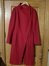 Ladies red wool blend coat size 14. In excellent condition.