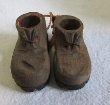 Miniature Wood Shoes ~ Czechoslovakia