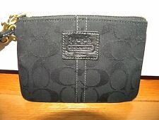 Coach Signature Black Wristlet  ~XLNT!