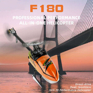 RC Helicopter F180 2.4G 6CH 3D 6G System Brushless Motor Flybarless RC Drone Toy