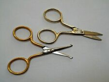 2 Vintage 2 Crossed Palms Manicure Scissors / Germany