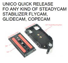 UNICO QUICK RELEASE PLATE PIASTRA FLYCAM GLIDECAM STEADYCAM COPECAM HD 3000 NANO