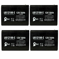 4-pack Schwinn missile fs Battery UB12100-S 12V 10Ah Sealed Lead Acid SLA AGM